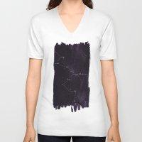 constellation V-neck T-shirts featuring Constellation by Lauren Spooner