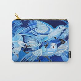 Muge's Pigeons in Blue  Carry-All Pouch