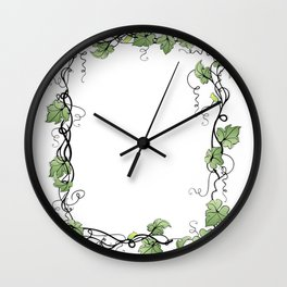 Floral frame Wall Clock