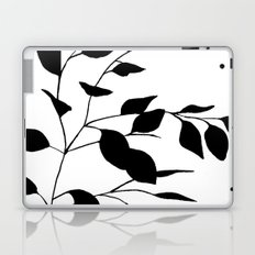 Black Leaves Laptop & iPad Skin