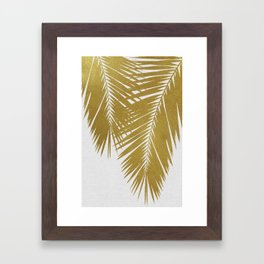 Palm Leaf Gold II Framed Art Print