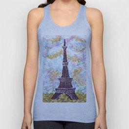 Eiffel Tower Pointillism by Kristie Hubler Unisex Tank Top