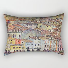 """Gustav Klimt """"Malcesine on Lake Garda"""" Rectangular Pillow"""