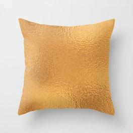 Simply Metallic in Bronze Throw Pillow