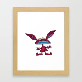 Ickis in watercolor Framed Art Print