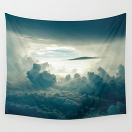 Clouds white & grey Wall Tapestry