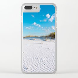 Pristine Sand Dune Clear iPhone Case