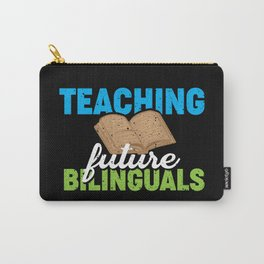Bilingual Spanish Polyglot Language Carry-All Pouch