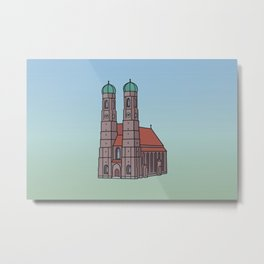 Munich Frauenkirche Metal Print