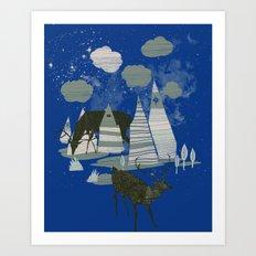 magic mountains Art Print