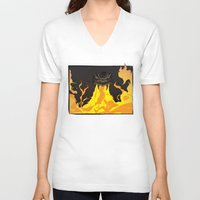 dungeons and dragons V-neck T-shirts featuring DUNGEONS & DRAGONS - INTRO by Zorio