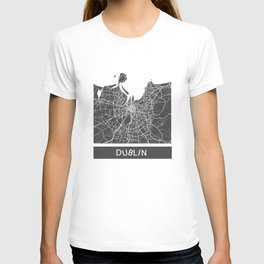 Dublin Map blue T-shirt
