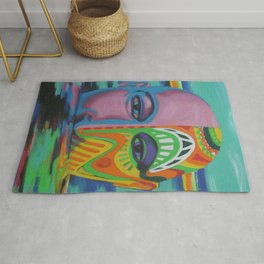 Face as Canvas Rug
