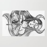 yin yang Area & Throw Rugs featuring Yin Yang by Len Barboza