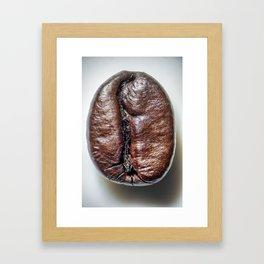 Coffee bean close up Framed Art Print