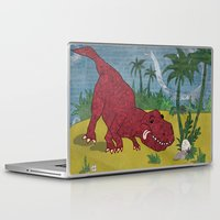 trex Laptop & iPad Skins featuring Trex-tra Cuddly by lindsey salles