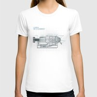 blueprint T-shirts featuring The Z-Machinery - Technical Blueprint by SHIO-Z