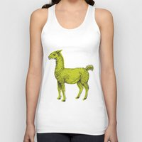 llama Tank Tops featuring llama by youareconstance