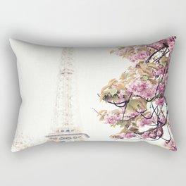 Cherry blossoms in Paris, Eiffel Towerr Rectangular Pillow