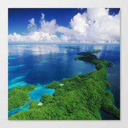 WOW!!! PALAU!! Tropical Island Hideaway Canvas Print