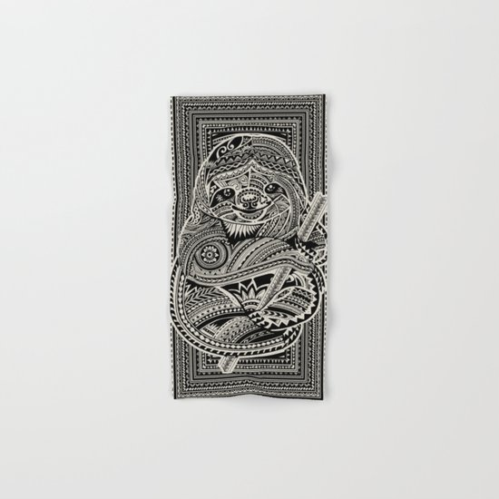 Polynesian Sloth Hand & Bath Towel