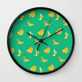 Banana mint coctail Wall Clock