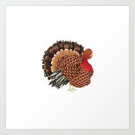 Cartoon turkey Art Print