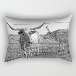 Longhorn Cows Rectangular Pillow