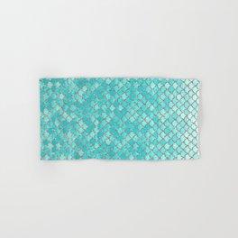 Teal Mermaid Scales Hand & Bath Towel