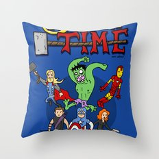 Avenger Time Throw Pillow