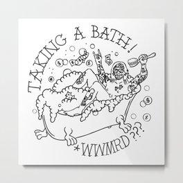 Richie Takes A Bath Metal Print