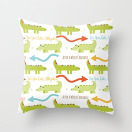 Alligator Crocodile Throw Pillow