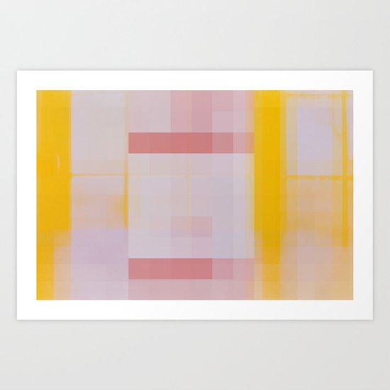 That Door Wasn't Yellow When I Went To Bed Last Night Art Print