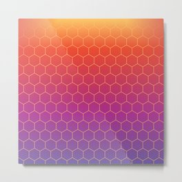 Colorful geometric background #society6 #decor #buyart #artprint Metal Print