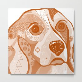 BEAGLE Brown Tones Metal Print