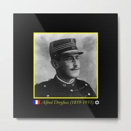Aaron Gerschel- Portrait of Alfred Dreyfus Metal Print