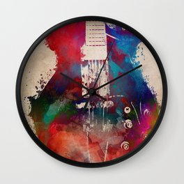 guitar art 6 #guitar #music Wall Clock