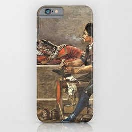 Jehan Georges Vibert - Running repairs - Digital Remastered Edition iPhone Case