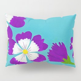 Summer Folk Flowers Pillow Sham