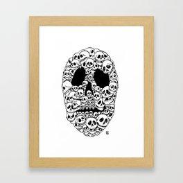 SKULL OF SKULLS Framed Art Print