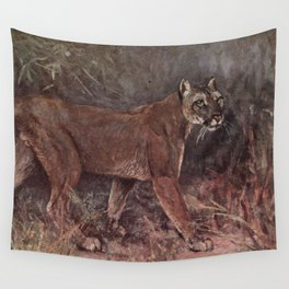 Vintage Puma Painting (1909) Wall Tapestry