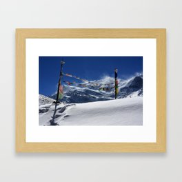 Prayer Flags At The Pass Framed Art Print
