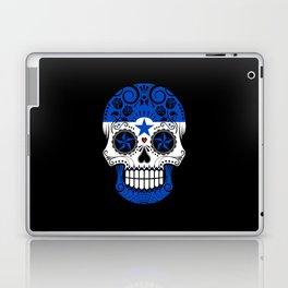 Sugar Skull with Roses and Flag of Honduras Laptop & iPad Skin