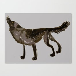 Totem Yukon Black Wolf Canvas Print