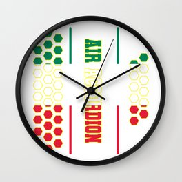 Accordion music Italy flag buttons gift Wall Clock