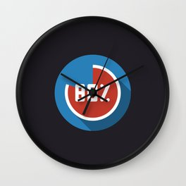 "Illustration ""percentage - 80%"" with long shadow in new modern flat design Wall Clock"