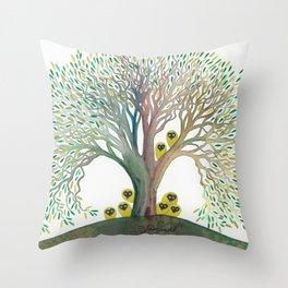 Eldorado Whimsical Owls Throw Pillow