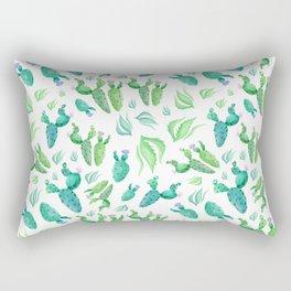 Beautiful watercolour cactus print Rectangular Pillow