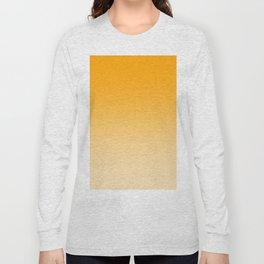 Orange to Pastel Orange Horizontal Linear Gradient Long Sleeve T-shirt