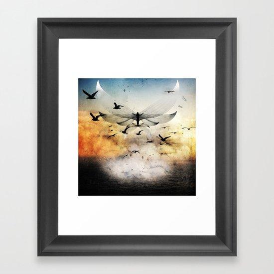 salute the morning Framed Art Print